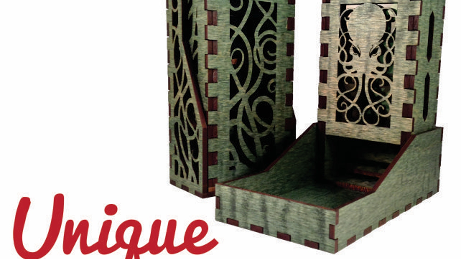 Unique Dice Towers adds individuality and fun to your game. Cthulhu adds chaos and insanity. Complete Cthulhu adds shock and awe!