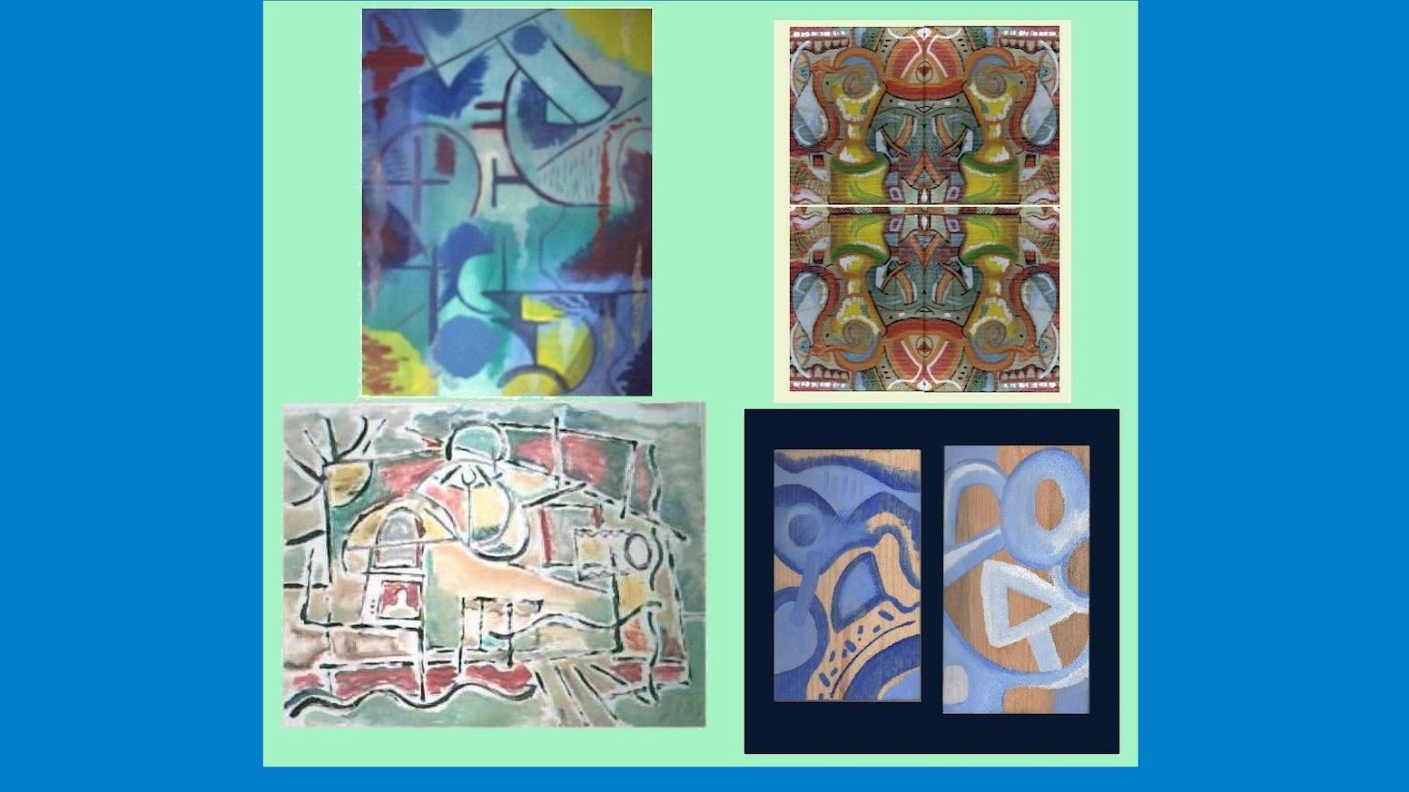 the primary colours paintings by john ewen kickstarter
