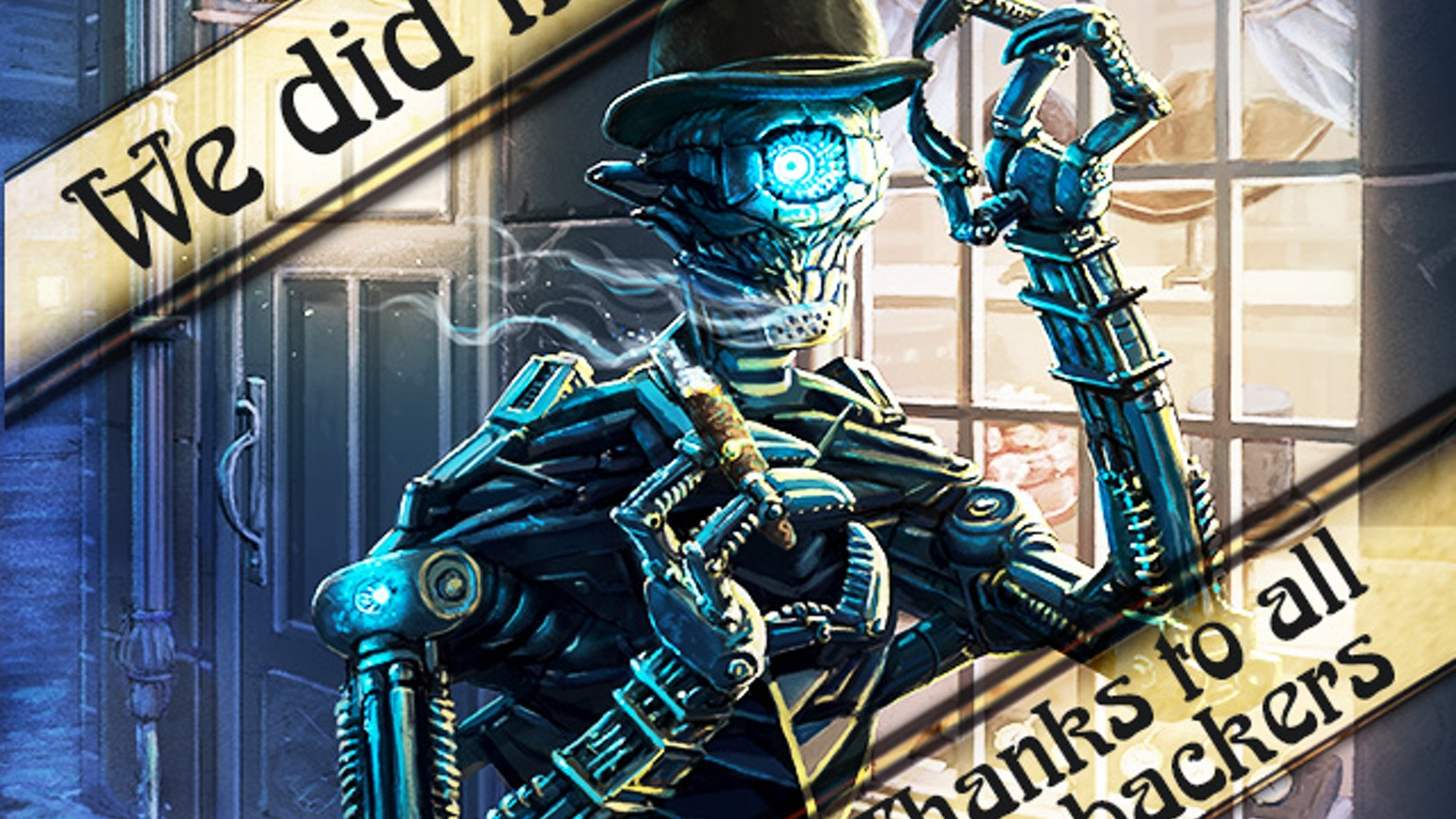 Lead a steampunk expedition to explore fantastic places and face otherworldly horrors in a deckbuilding strategy game for 1-5 players.