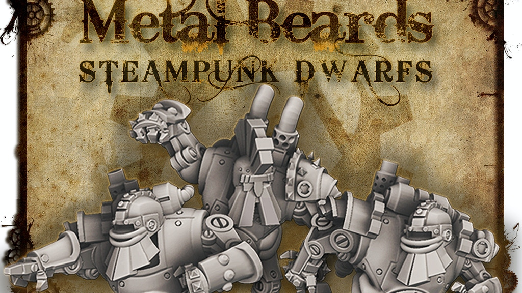 Metal Beards - Fantasy Football SteamPunk Dwarf Team project video thumbnail