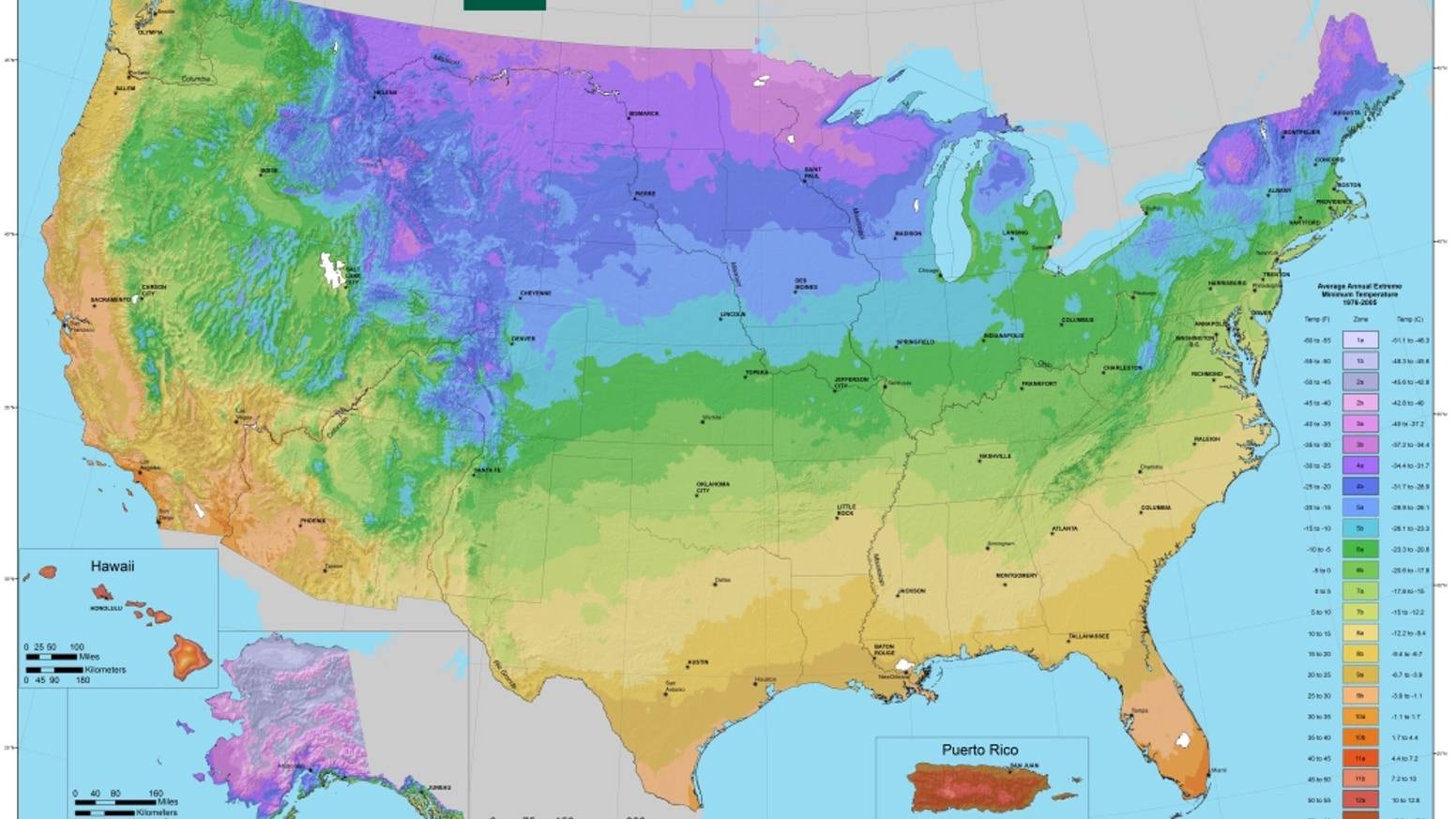 hardiness zone map big 40 x 60 print of the beautiful new usda plant hardiness