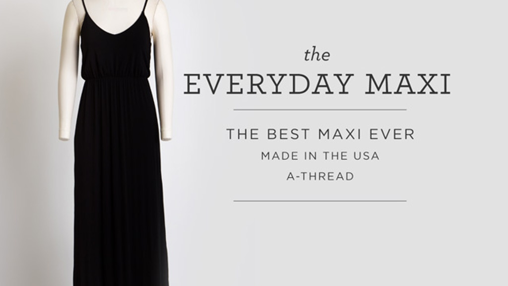 The Everyday Maxi Dress project video thumbnail
