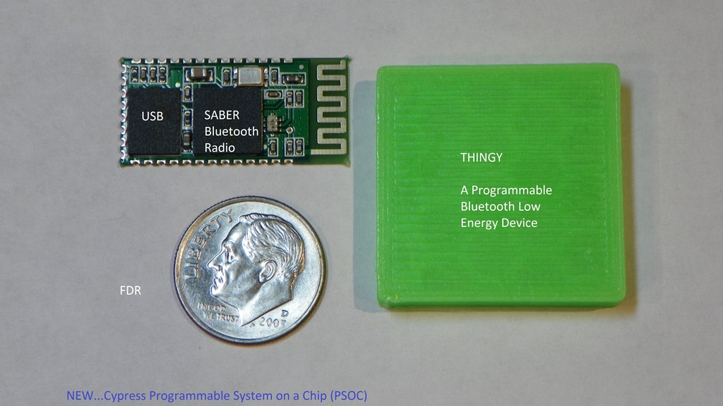 THINGY -- A Bluetooth device for everyday life - PSOC BTLE project video thumbnail