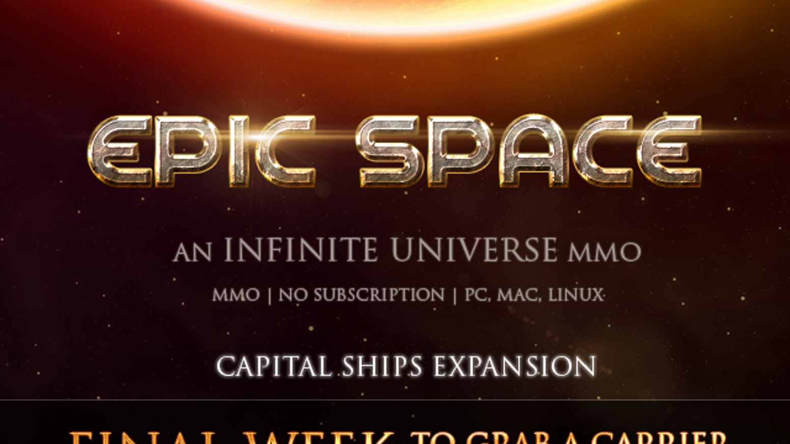 """We're adding a new aspect to this MMO set in an Infinite Universe -- """"Capital Ships"""" -- crewed by you and your mates."""