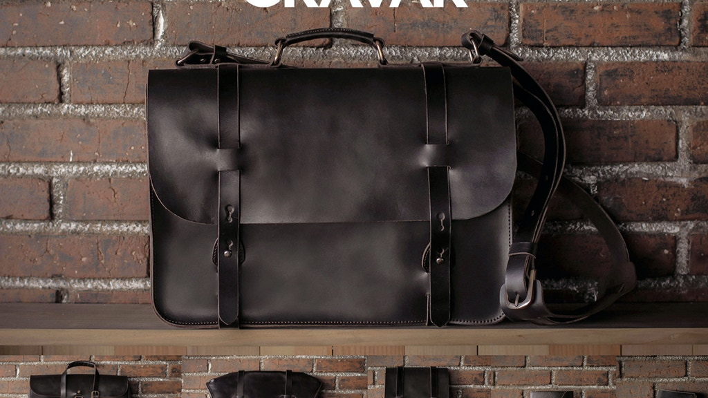 CRAVAR - Leather Bags & Journal with your initials on them! project video thumbnail