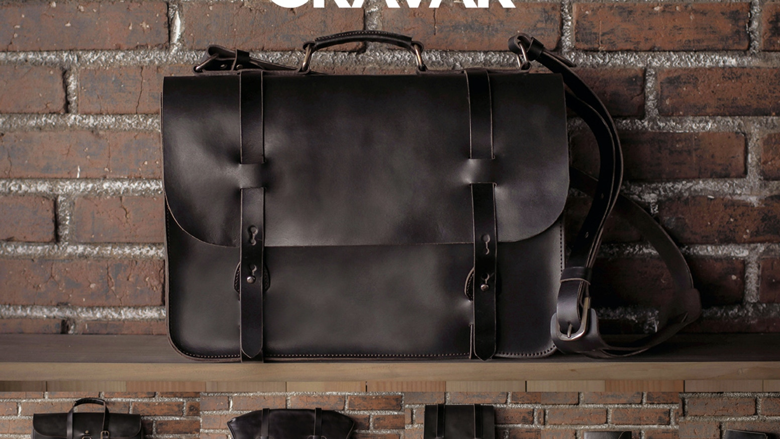 Hard wearing, classically styled leather bags & journals, made to last