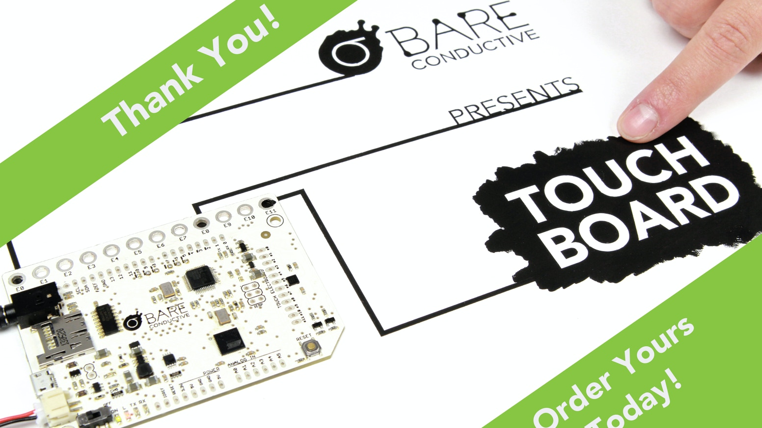 Touch Board Interactivity Everywhere By Bare Conductive Kickstarter 3 Way Switch Kit