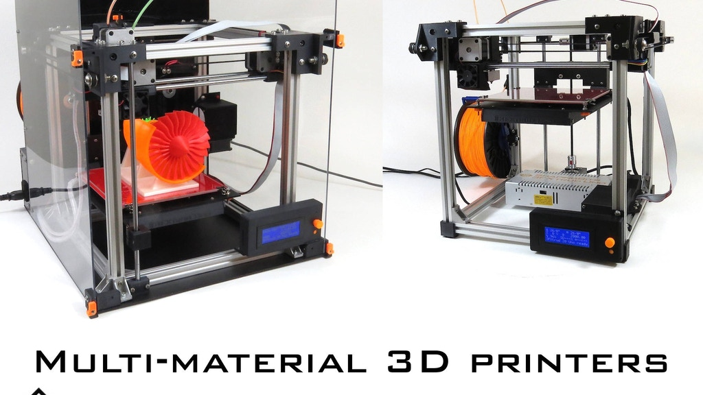 Multi-material and high resolution 3FXtrud 3D printers project video thumbnail