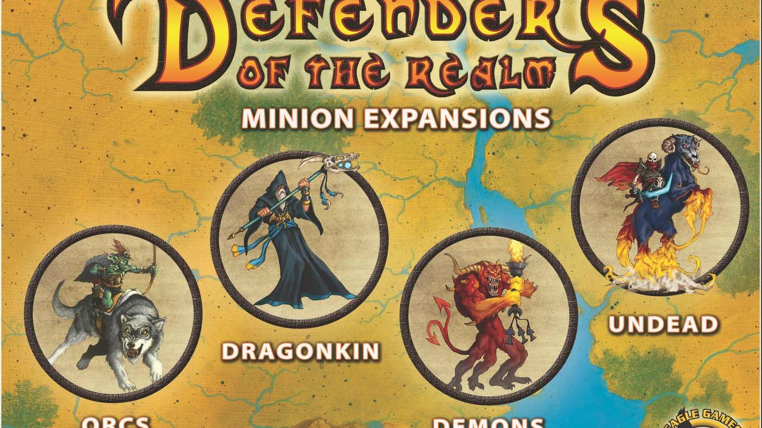 Defenders of the Realm: Minions introduces four new expansions; adds upgraded minions & increasing challenges to this cooperative game!
