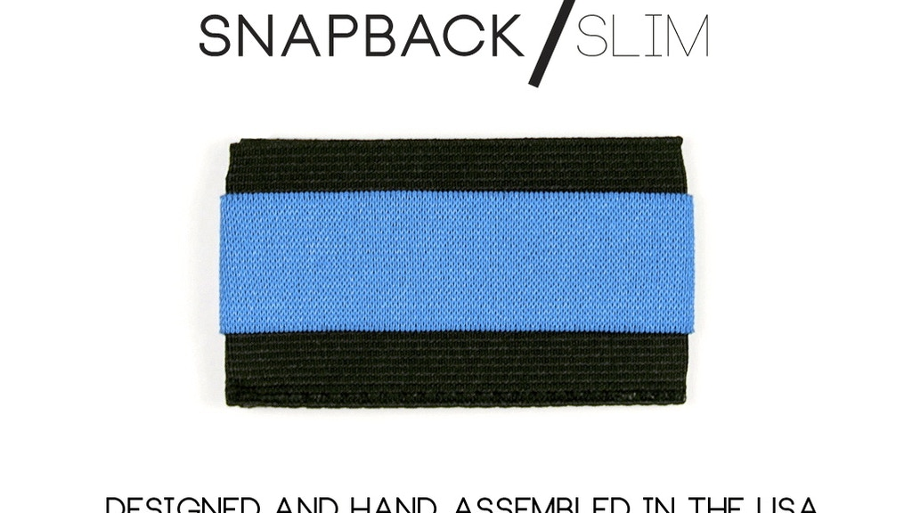Snapback Slim Wallet - Minimal size, maximum potential. project video thumbnail