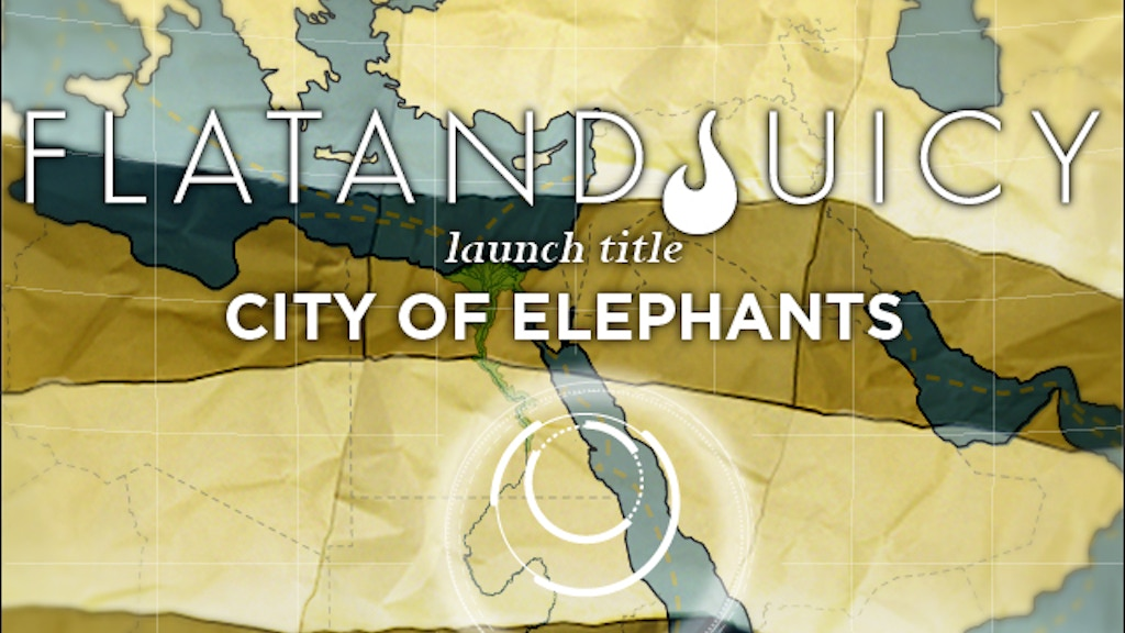 "Project image for FlatandJuicy: ""CITY OF ELEPHANTS"" eBook & App"