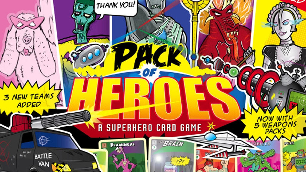 Pack of Heroes - A Vintage Comic Superhero Card Game! project video thumbnail