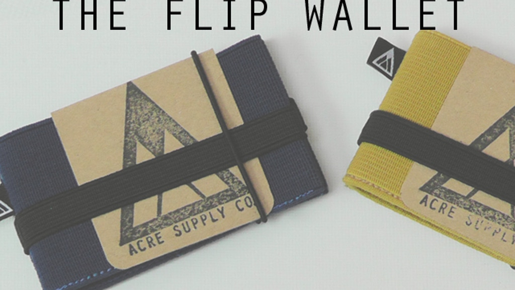 Flip - The Minimal Fuss Wallet from Acre Supply Co. project video thumbnail