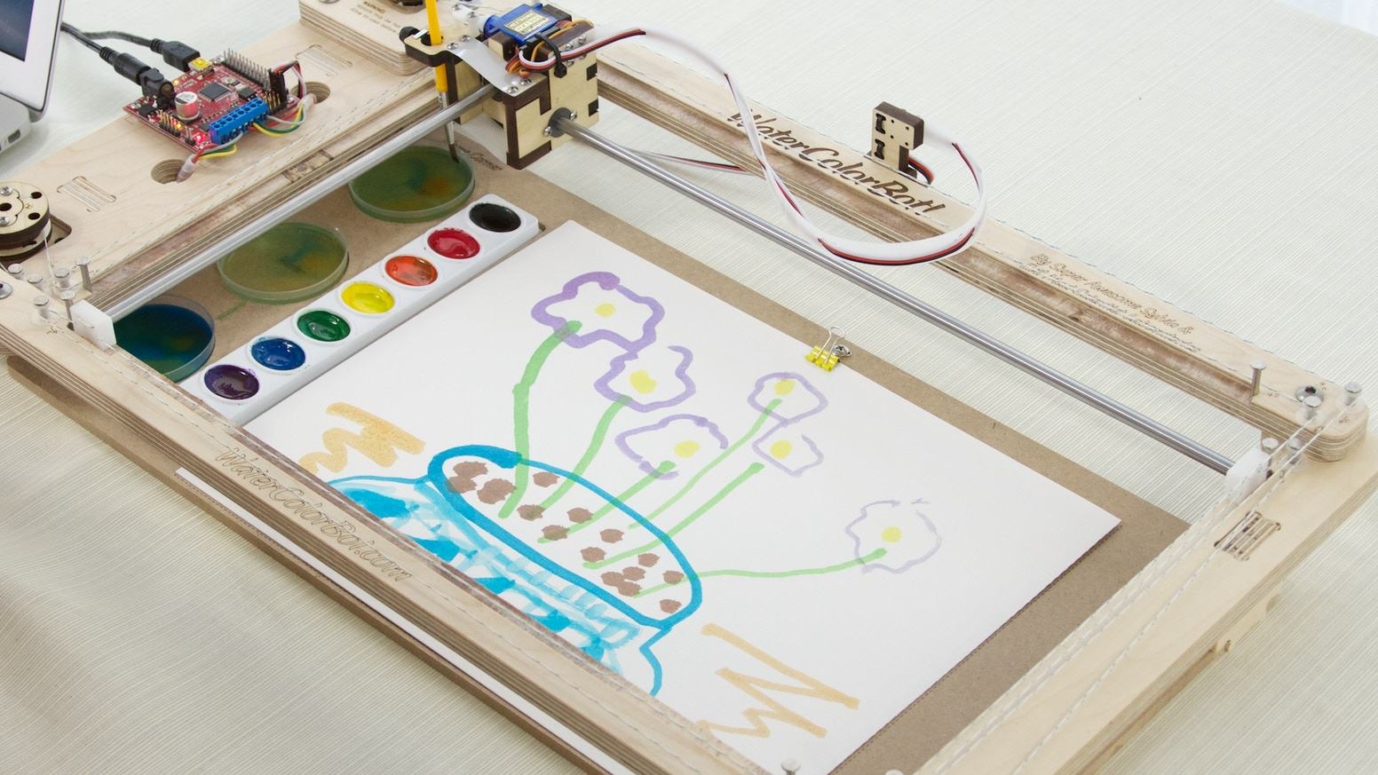 The Friendly and Educational Art Robot that Paints with Watercolors!