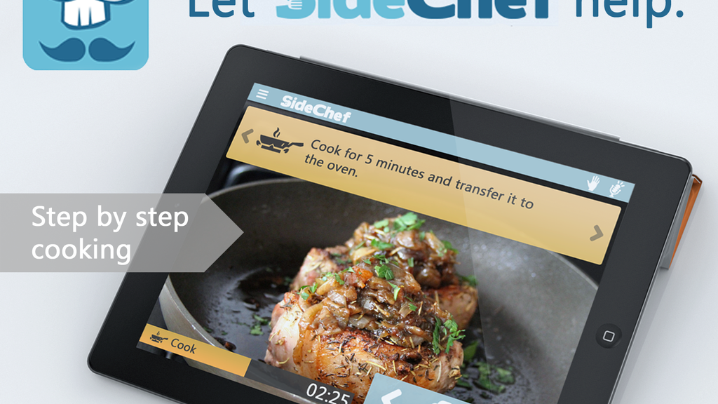 SideChef: A Step-by-step cooking application. project video thumbnail