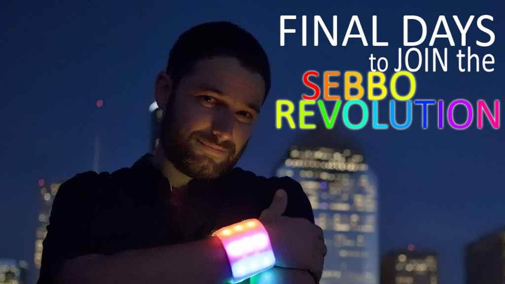 The Sebbo - A Bright and Colorful Rechargeable LED Wristband project video thumbnail