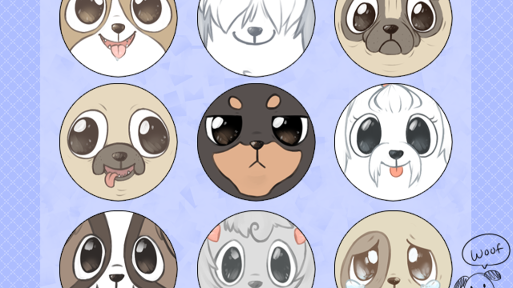 Woof! - dog themed pinback button project video thumbnail