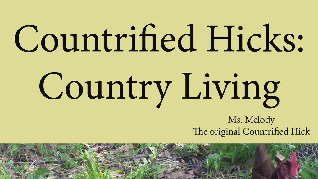 """Project image for """"Country Living"""" is a book about life in the country."""