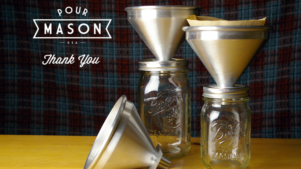 Pour Mason :: Pour Over Coffee Attachment for Mason Jars project video thumbnail