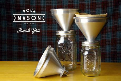 Pour mason pour over coffee attachment for mason jars for Bookmark creator jar