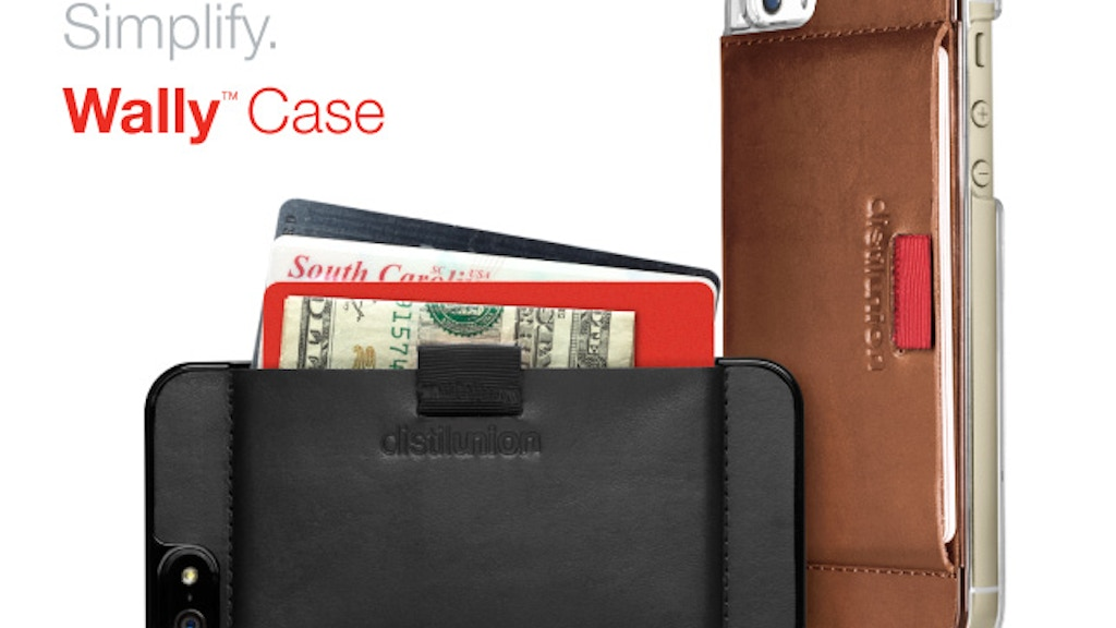 Wally Case = Minimal Leather Wallet + iPhone Protection project video thumbnail