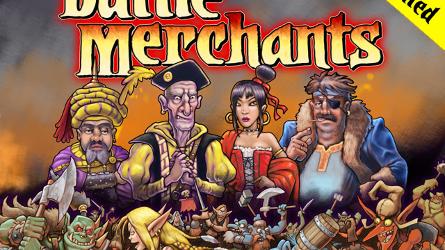 An economic game set in a fantasy land, where players manufacture  weapons and sell them to various warring races.
