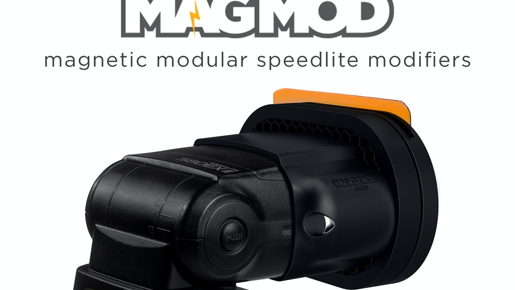 MagMod - Magnetic Speedlite Modifiers for Hot-Shoe Flashes project video thumbnail