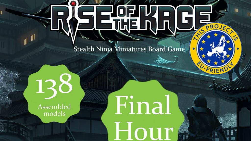 Rise of the Kage, ninja board game with detailed miniatures. project video thumbnail