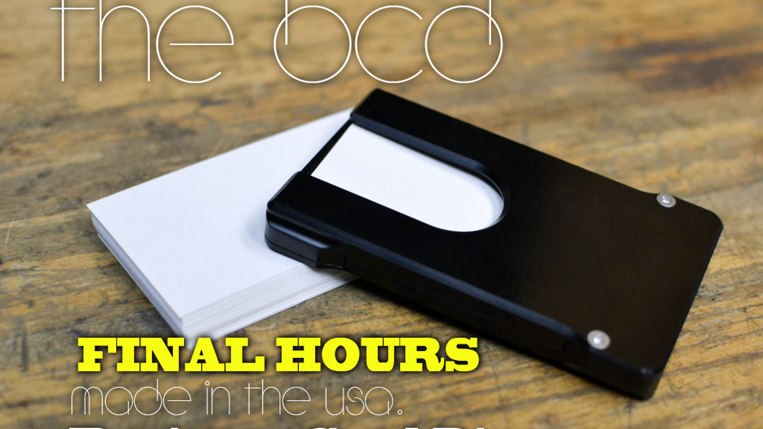 The BCD (Business Card Dispenser) by CMP — Kickstarter