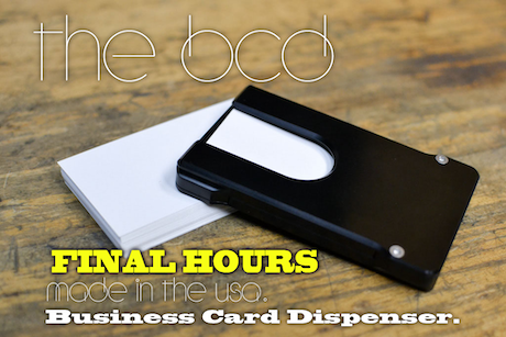 The bcd business card dispenser by cmp kickstarter for Automatic business card dispenser