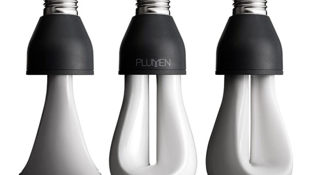 PLUMEN 002: Designer Low Energy Light Bulb project video thumbnail