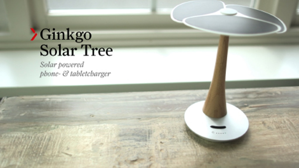 Ginkgo Solar Tree, Solar powered phone and tablet charger project video thumbnail