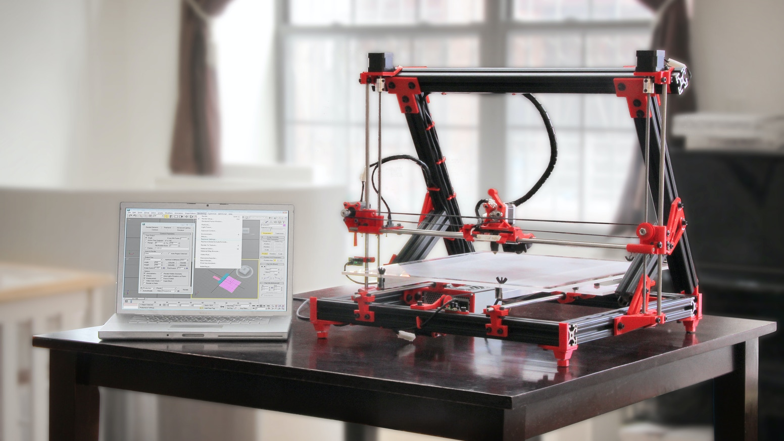 The original gMax was a new and large desktop 3D printer with an incredible 16'' x 16'' x 9'' (2,304 cubic in) build volume! The new gMax 1.5+ and gMax 1.5 XT+ are even bigger and even better. Check out gCreate.com to get all the information.