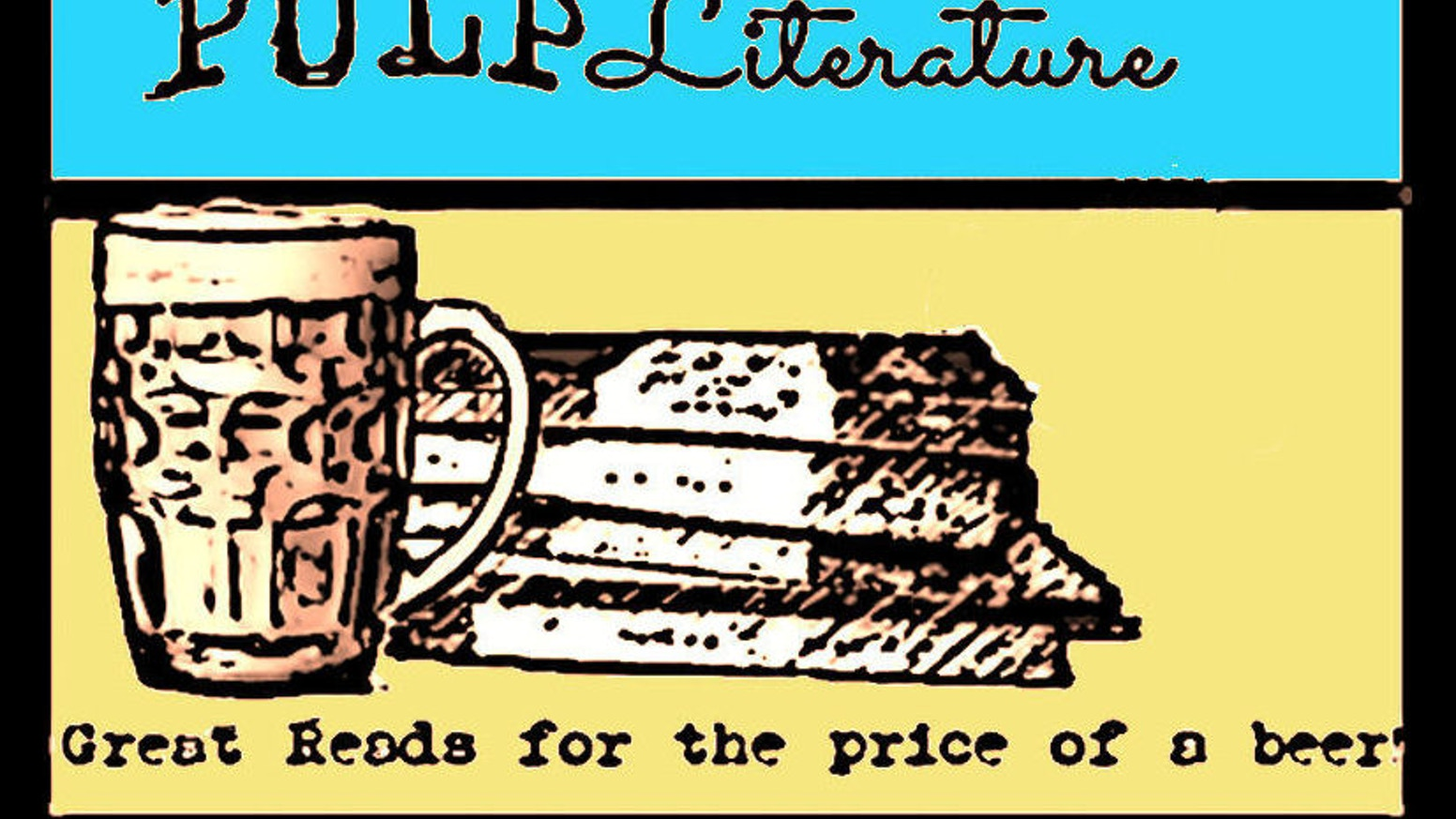 Genre-busting short stories, novellas, serials and graphic novels in a pulp anthology magazine.  Good books for the price of a beer!