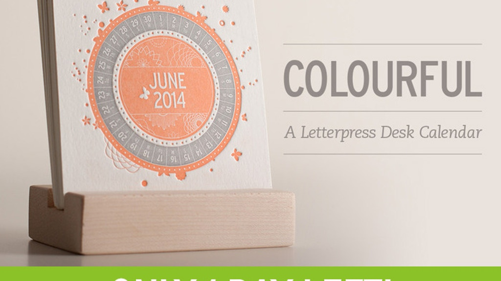 COLOURFUL: A Letterpress Desk Calendar project video thumbnail
