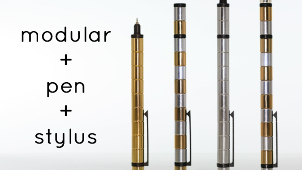 Pen/stylus made from MAGNETS. POLAR PEN - Modular Tool project video thumbnail