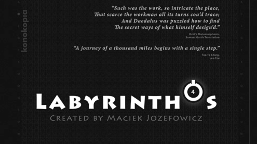 LABYRINTHÓS, Puzzle, Board Game, Art, Literature, read on... project video thumbnail