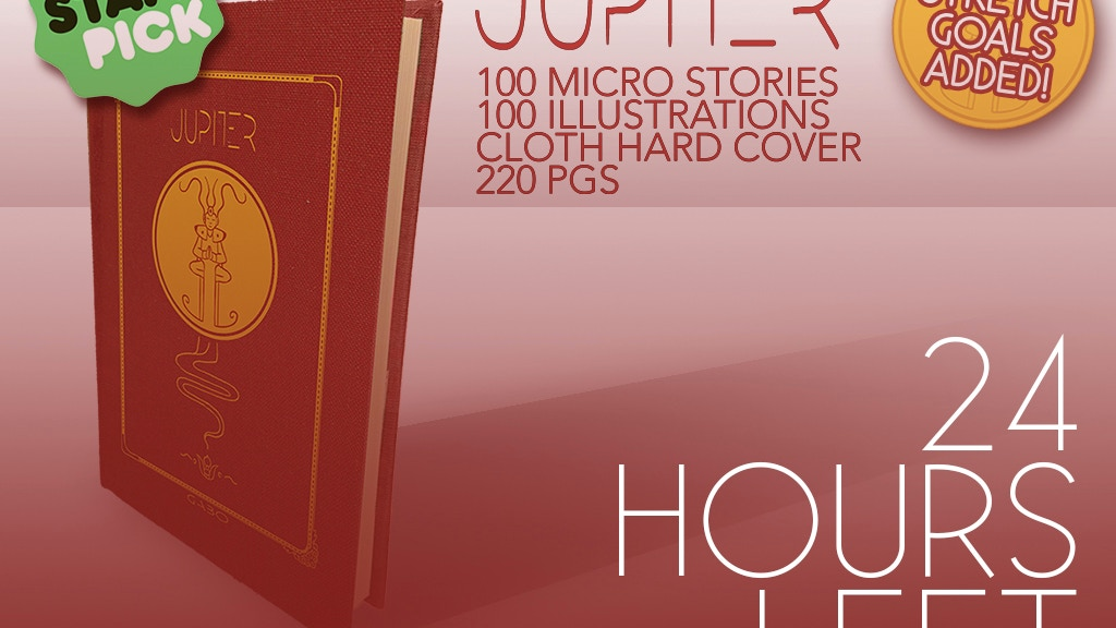 JUPITER: an illustrated microfiction artbook project video thumbnail