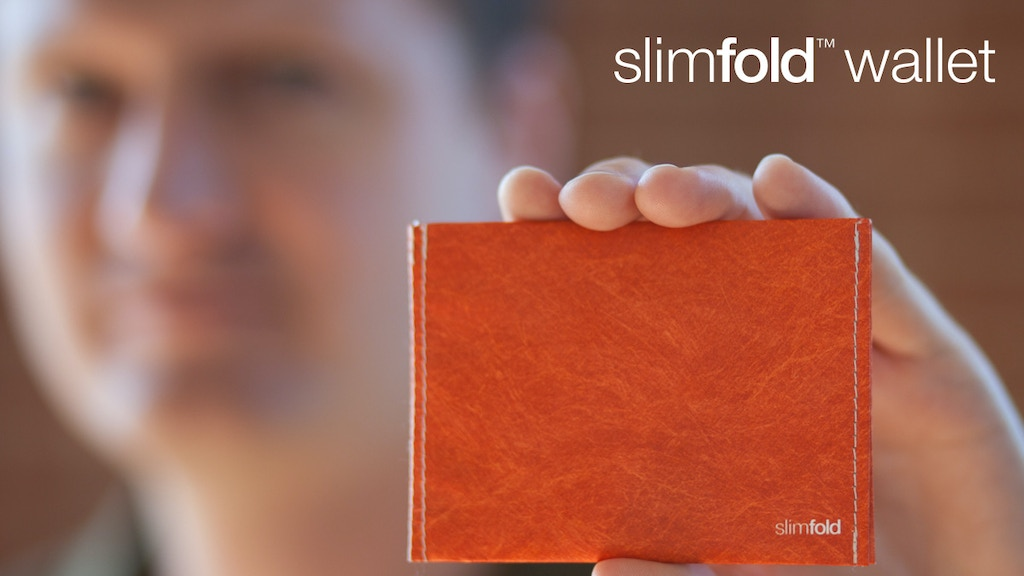 SlimFold MICRO: A super thin wallet stitched from Tyvek project video thumbnail