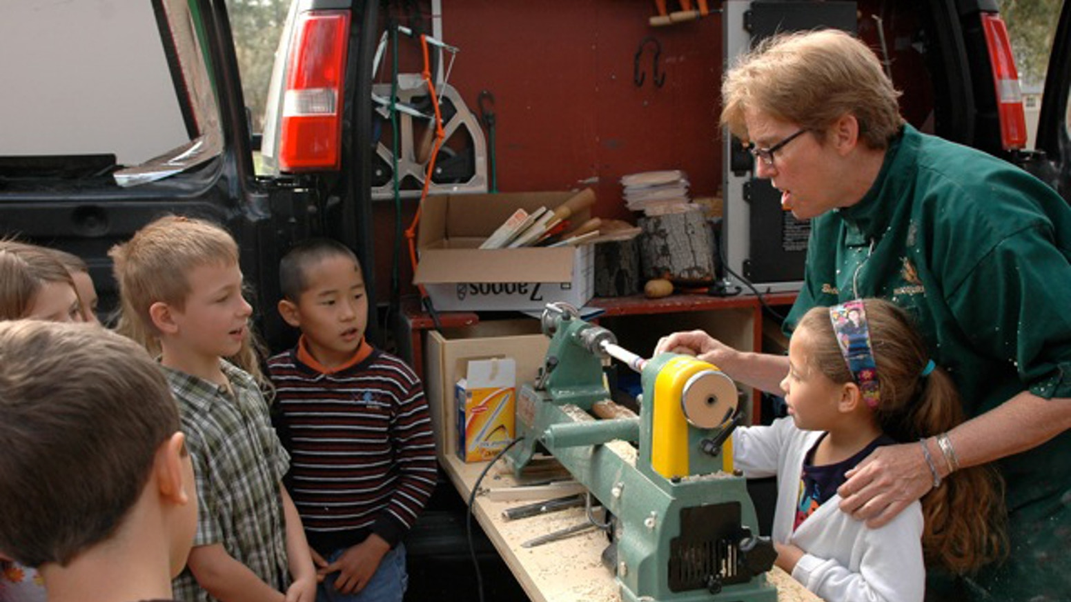Turning Around Boston Mobile Woodworking Classes For Kids By The