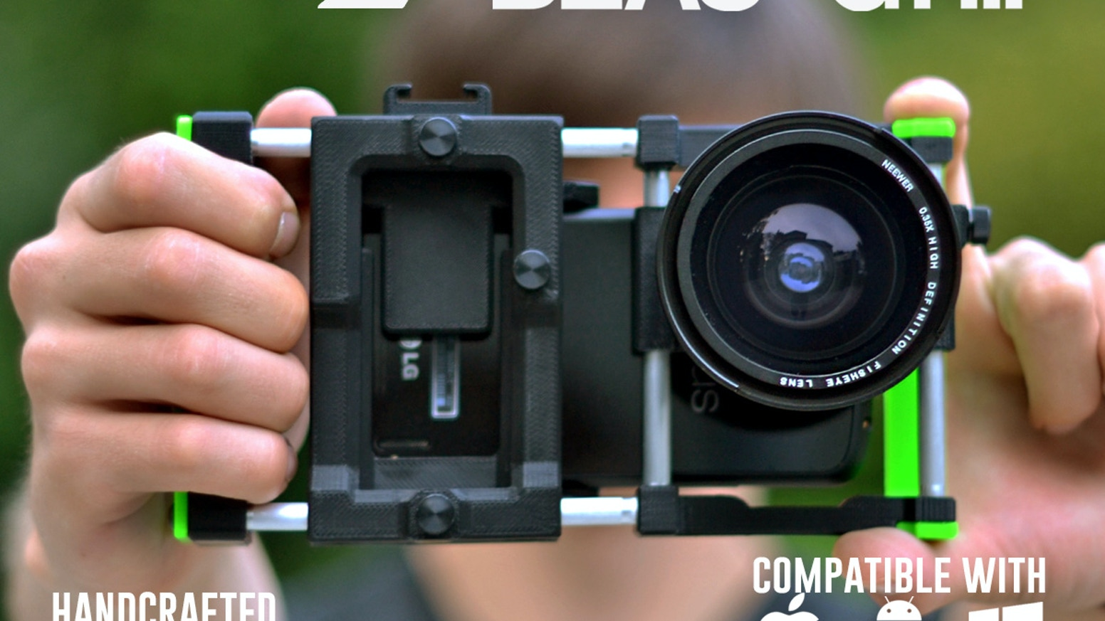 Beastgrip - universal lens adapter and rig system for iPhone, Android or Windows phones. Second generation of Beastgrip is back on Kickstarter
