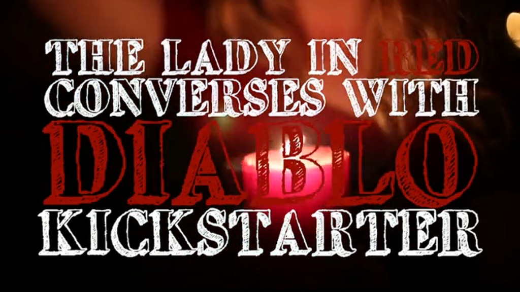 The Lady in Red Converses with Diablo by Sophia Schrank