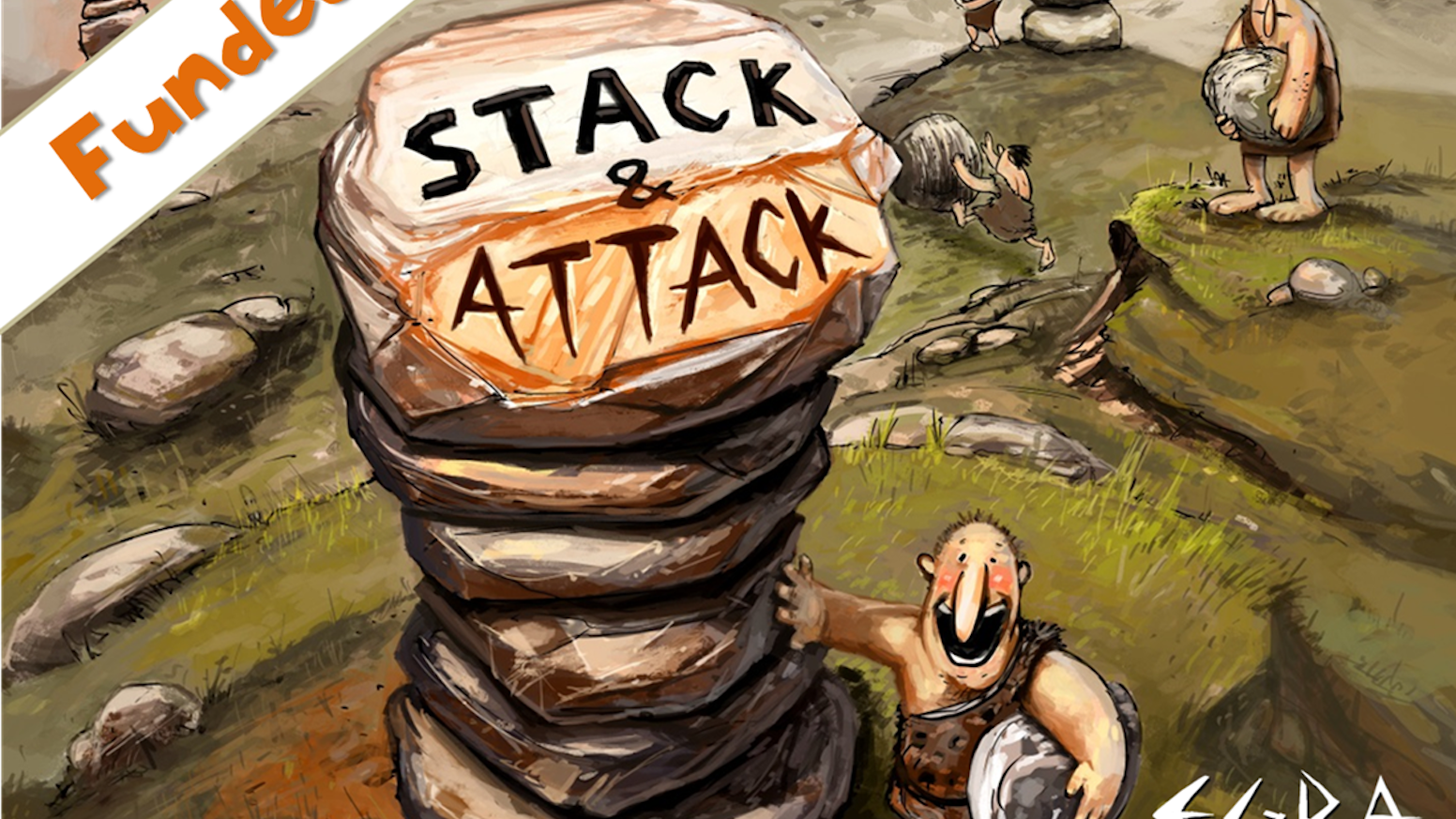 Caveman Rocks : Stack & attack a rockin' card stacking game by egra games