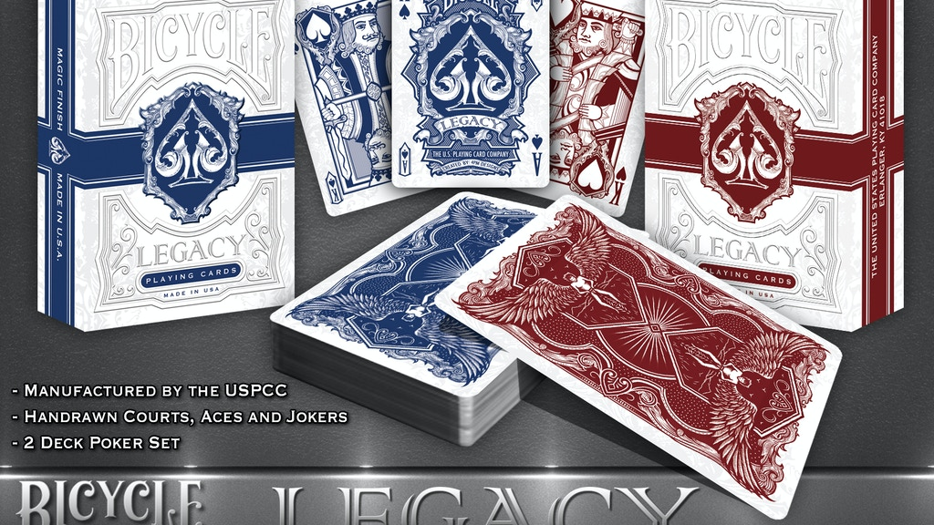 Project image for LEGACY, A New Bicycle® Playing Card Set by 4PM DESIGNS