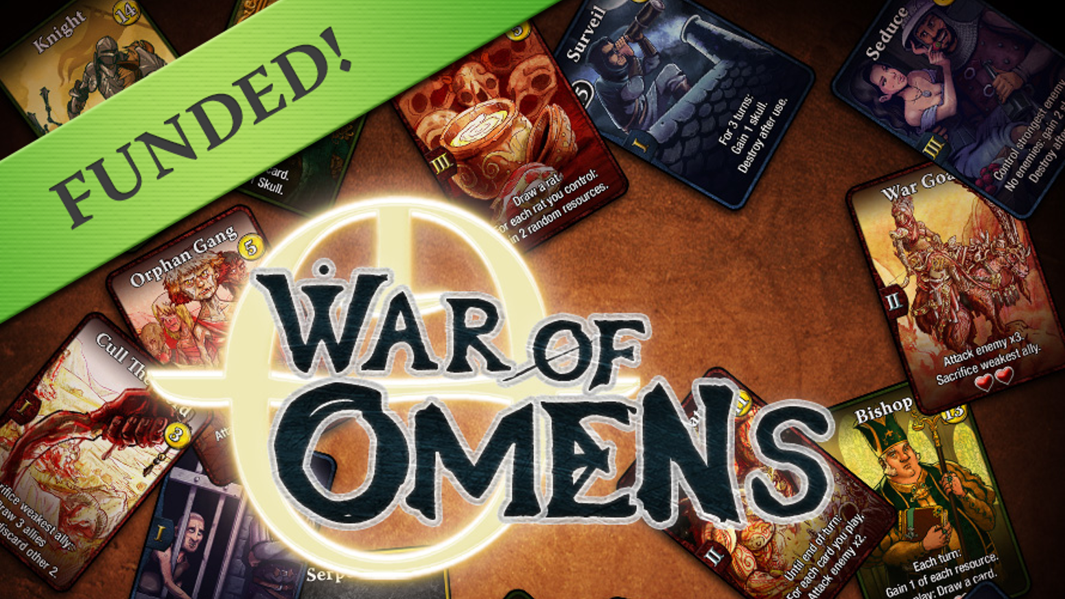 War of Omens is a card game combining deck-builder and CCG mechanics, featuring fast, strategic play and 3 different playable factions.