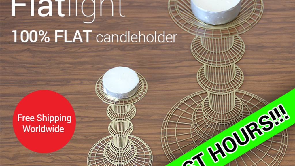 Flatlight - 2D/3D optical illusion candle holder project video thumbnail