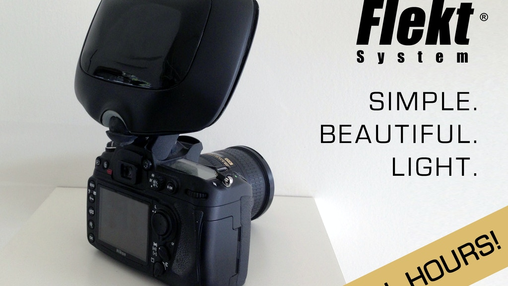 Flekt: Studio Quality Light from Your Pop-Up Flash project video thumbnail