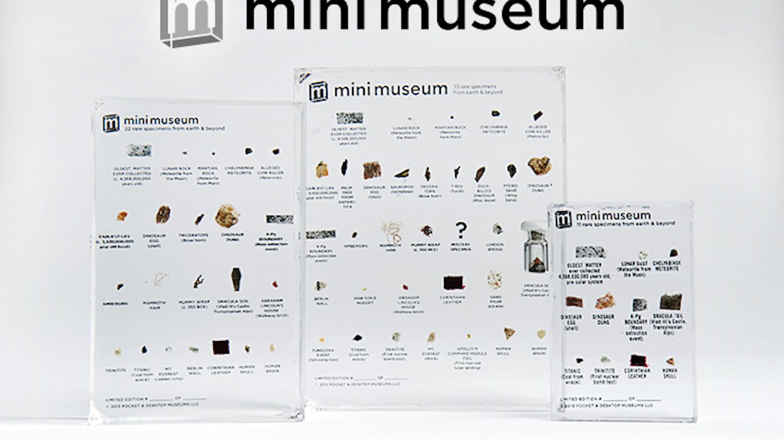 a8029fdc067c1 Mini Museum by Hans Fex — Kickstarter