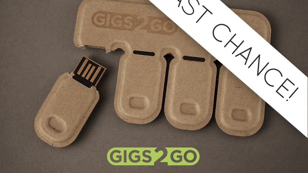 Gigs 2 Go: Tear & Share Thumb Drive Pack in Recycled Paper project video thumbnail
