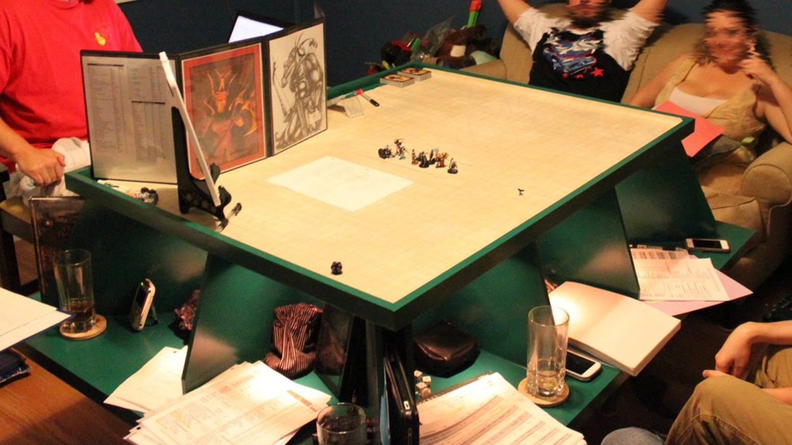 We are raising money to create plans based on the original RPG gaming table topper.